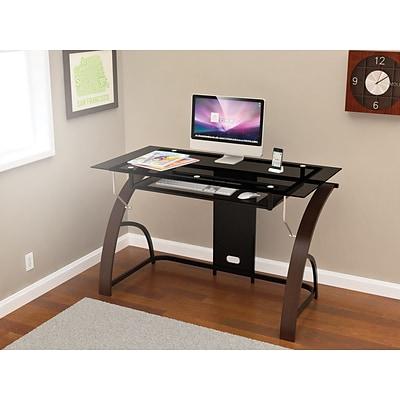 Z Line Designs Claremont Glass Desk Espresso Quill Com
