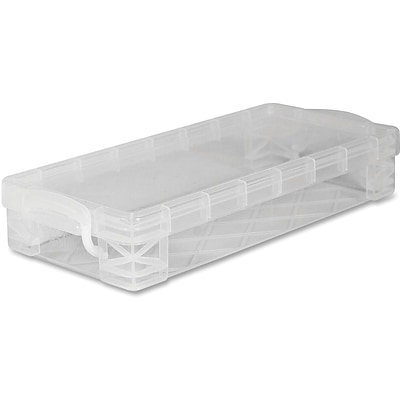 Advantus Super Stacker Stackable Pencil Box - Plastic - Clear
