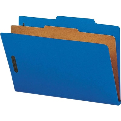 Nature Saver Cleared Top-tab 1-Divider Classification Folder, Dark Blue (Or Midnight Blue), 10/Box