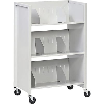 Buddy Products® File Carts, 3-Tier Platinum
