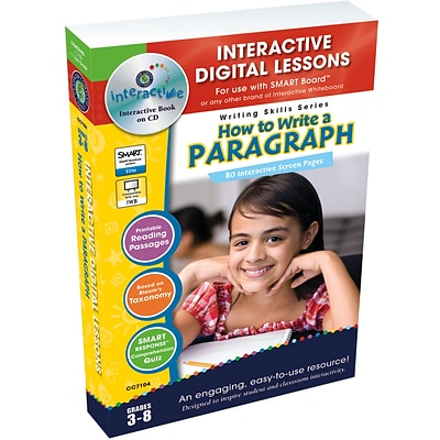 Interactive Whiteboard Resources, How to Write a Paragraph