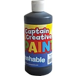 Captain Creative Washable Paint™, Black, 16 oz.