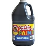 Captain Creative Washable Paint™, Black, Gallon