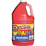 Captain Creative Washable Paint™, Red, Gallon