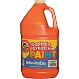 Captain Creative Washable Paint™, Orange, Gallon