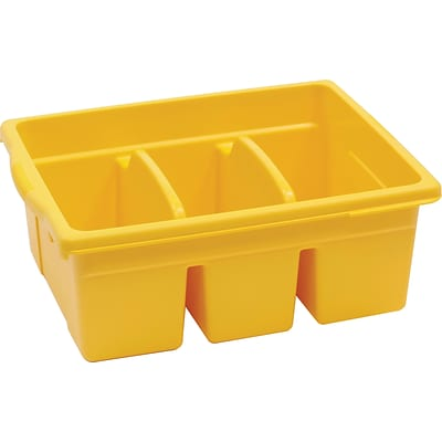 Leveled Reading Large Divided Book Tub, Yellow