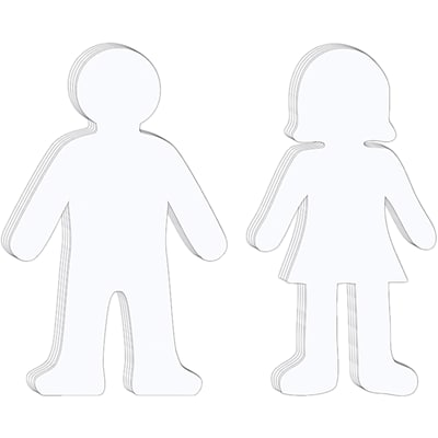 Whiteboard People Shapes, Set of 10