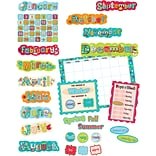Dots on Turquoise Calendar Bulletin Board Set, 67 pieces