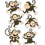 Monkeys Cut-Outs Variety Pack, 6 Designs, 6 x 6, 36/pkg
