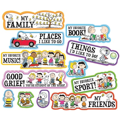 Peanuts® Star of the Week Mini Bulletin Board Set