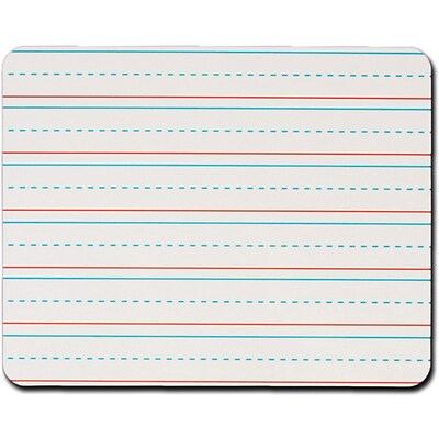 Kleenslate® Manuscript Lined Rectangular Replacement Dry Erase Sheets, 10 x 8