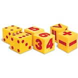 Giant Soft Foam Dot, Numeral & Operation Cubes, Set of 6