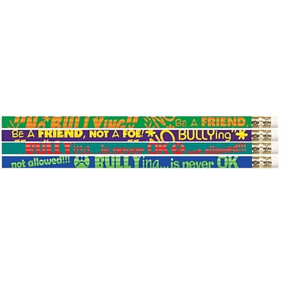 No Bullying Motivational Fun Pencil, #2, 144/Box
