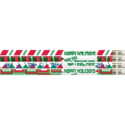 Happy Holidays from your Teacher Pencil; #2, 144/Box