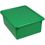 Stowaway Letter Box with Lid, Green, 13 x 10-1/2 x 5