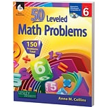 50 Leveled Math Problems w/CD, Level 6
