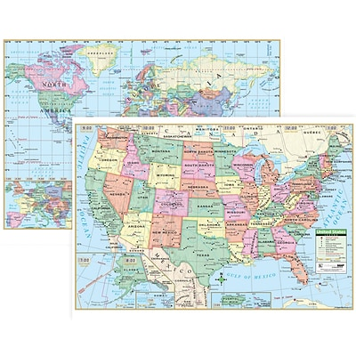 U.S. & World Wall Maps, 40 x 28