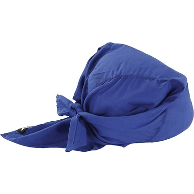 Ergodyne® Chill-Its® Evaporative Cooling Triangle Hat, Solid Blue, 24/Pack