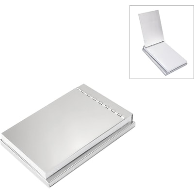 Natico Covered Notepad Holder, Silver