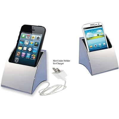 Natico Desktop Smartphone Holder, Silver
