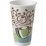 Dixie® PerfecTouch® Insulated Paper Hot Cup, 16 Oz., Coffee Haze, 500/Carton (5356DX)
