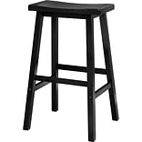 Winsome 29 Wood Saddle Seat Stool, Black