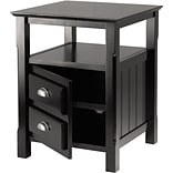 Winsome Trading Timber Side Table, Black, Each (20920WTI)