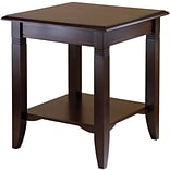 Winsome Nolan 21.97 x 20 x 20 Composite Wood End Table, Cappuccino