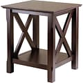 Winsome Xola 21.97 x 20 x 19.13 Composite Wood End Table, Cappuccino
