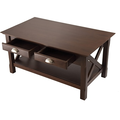 Winsome Xola 18 x 37 x 21 Composite Wood Coffee Table, Cappuccino