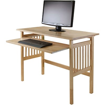 Winsome Solid Wood Folding Computer Desk, Natural