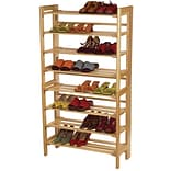 Winsome Beech Wood 4-Tier Stackable Shoe Rack, Natural