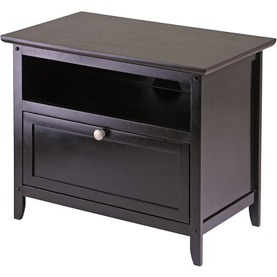 Winsome Zara Wood TV Stand, Dark Espresso