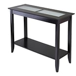 Winsome Syrah 30 x 40 x 16.3 Composite Wood Console/Hall Table With Frosted Glass, Dark Espresso