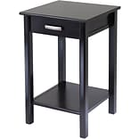 Winsome Liso 31.1 x 20 1/2 x 20 1/2 Composite Wood End Table/Printer Table, Dark Brown