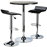Winsome Spectrum 39.76 x 23.66 x 23.66 MDF Round Pub Table With 2 Air Lift Stool, Black, 3 Pieces