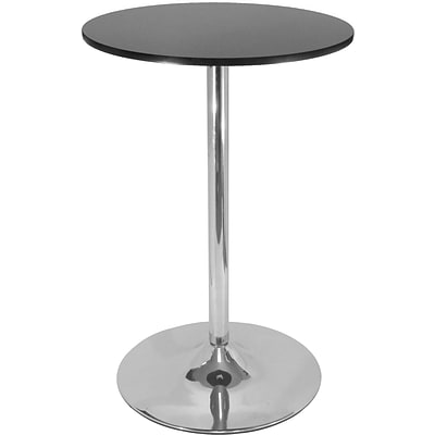 Winsome Spectrum 40.16 x 28.74 x 28.74 MDF Round Pub Table, Black