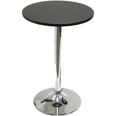 Winsome Spectrum 29 1/2 x 19.7 x 19.7 MDF Round Bistro/Tea Table With Metal Leg, Black