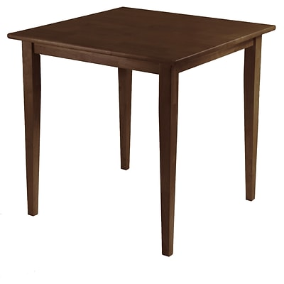Winsome Groveland 29.13 x 29.53 x 29.53 Wood Square Dining Table With Shaker Leg, Antique Walnut