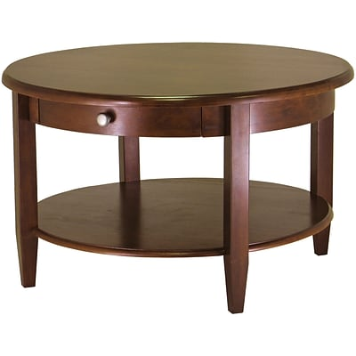 Winsome 18 X 30 Concord Wood Round Coffee Table Antique Walnut