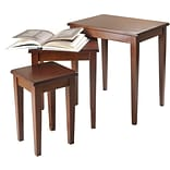 Winsome Regalia 21.6 x 20 x 14.9 Beech Wood Nesting Table, Brown, 3 Pieces