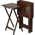 Winsome 19 TV Table, Brown, 4/Set (94419)