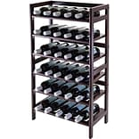 Winsome 38 1/2 x 21.6 x 11.54 Wood 30-Bottle Silvi Wine Rack, Antique Walnut