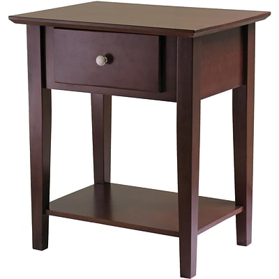Winsome 25 x 22 x 16 Wood Shaker Night Stand, Brown