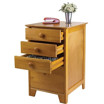 Winsome Studio Wood Filing Cabinet, Honey