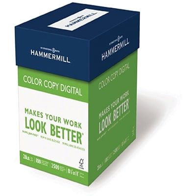 Hammermill® 11 x 17 60 lbs. Ultra Smooth Color Copy Digital Cover, White, 1250/Case
