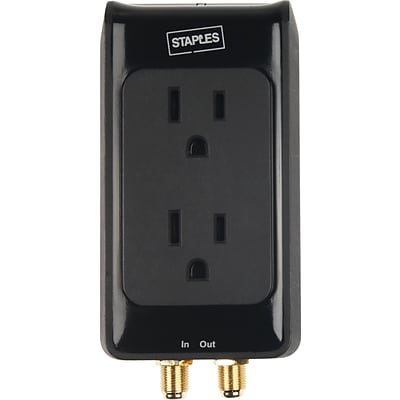 2-Outlet 1500 Joule Home Entertainment Surge Protector with Coax