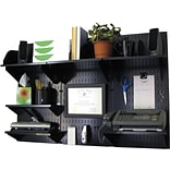 Wall Control Desk and Office Craft Center Organizer Kit, Black