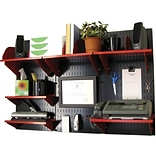 Wall Control Desk and Office Craft Center Organizer Kit, Black/Red
