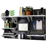 Wall Control Desk and Office Craft Center Organizer Kit, Black/White